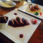 Duck with cherry sauce!