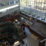 View of the lobby from the lift