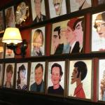 The walls at Sardi's are lined with famous caricatures of stars.