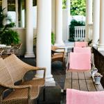 Relax on The Terrace at The Chanler at Cliff Walk.