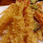 Shrimp & veggies Tempura appetizer