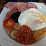 The hubby's fabby breakfast....