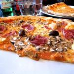 Half a big pizza