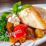 We offer fresh seafood when available, including halibut and cod