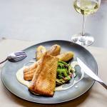 Filet de truite du Vercors, sauce au bleu de Sassenage