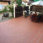 front courtyard where you eat breakfast
