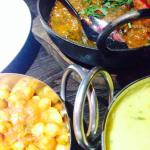 Lamb Korai, Chana Bhaji & Tarka Dall