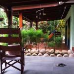 Blick auf Terrasse der einzelnen Cabanas