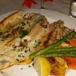 Trout with veges and couscous