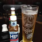 beer and HP sauce, a winning combo!
