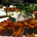 cornbread with goat cheese