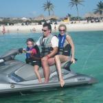 enjoying the crystal clear waters of Aruba