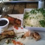 Petit bémol sur toute cette verdure sur le riz  !!!