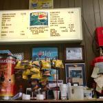 Pat's Snack Bar menu