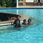 At the pool bar