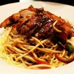 Crispy duck chilli noodle