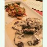 Entrée: Filetto di Manzo Panna e Funghi (Beef Tenderloin in Cream Sauce & Mushroom) AMAZING!!!