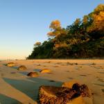 The beach before sunset
