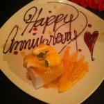 pro: complimentary anniversary cake