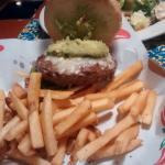 Guacamole burger & caesar salad