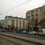 City Hotel from the tram stop in Bulevardul Timisoara (Romancierilor)