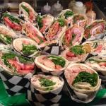 A platter of delicious wraps!