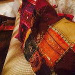 Beautiful pillows, shiny colours!