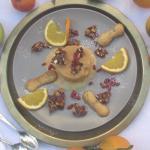 Semifreddo di caramello amaro con croccante di mandorle di Evangelista. Una dessert indimenticab