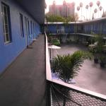 Courtyard at the hostel. Great spot to hang out night or day.