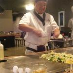 You can only choose  a table where they cook in front of you.  Other Japanese restaurants have b