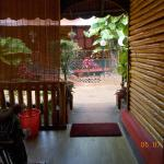view from inside the bamboo cottage