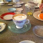 Tea cup collection for serving coffee or tea