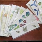 Flower-pounded bookmarks - Ruth Mackay