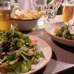 Salade de saumon et salade de potiron