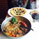 cassoulet and pizza...delicious!