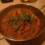 Chicken tikka Karahi. Large portion too which is under the amazing sauce.