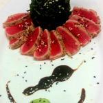 Seared Tuna - with flash-fried spinach