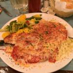 Chicken parma ! huge portion!