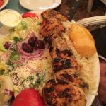 Chicken brioche ( chicken souvlaki).. 22 oz of chicken!