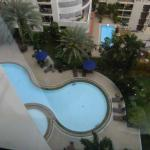 View of the pool from the17th floor