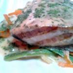 platillo de salmón delicioso