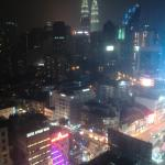 Night view from our room towards the Petronas Towers