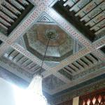 Bonitos techos en la recepción