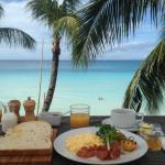 Breakfast at rooftop terrace