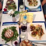 Cote de boeuf, brochettes de lotte a la plancha, Pastilla au Poulet , filet de pageot dieppoise