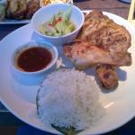 Char grill chicken with coconut rice