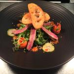 Thai Beef Salad, pickled carrot & cucumber, garlic croutons €8.95