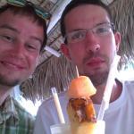 we are having Piña colada in the restaurant