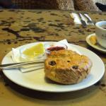 Lovely raisin scone with locally roasted americano