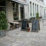 Terrasse et menu